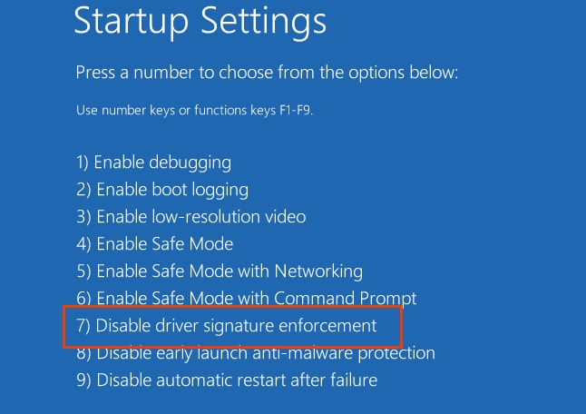 Disabling Driver Signature Enforcement on Windows 8/10 64-bit 6