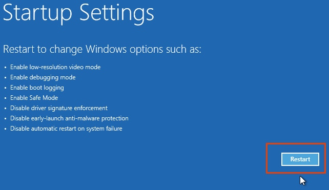 Disabling Driver Signature Enforcement on Windows 8/10 64-bit 5