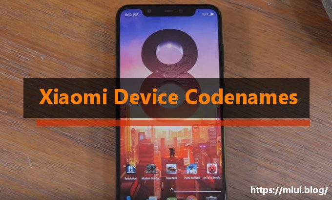 Xiaomi Device Codenames Cheatsheet 1