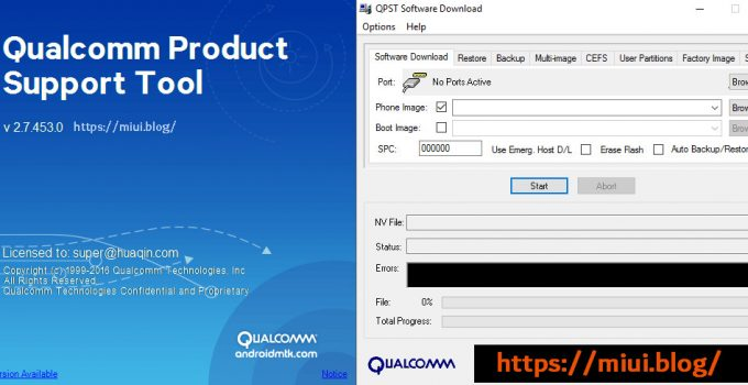 Qualcomm Product Support Tool / QPST Flashing Tool 9