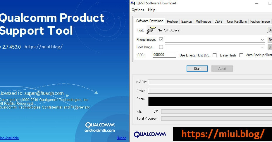 Qualcomm Product Support Tool / QPST Flashing Tool 1