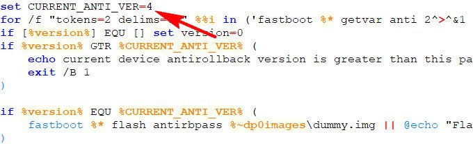 Quick Tips to check for Anti-Rollback Protection 3