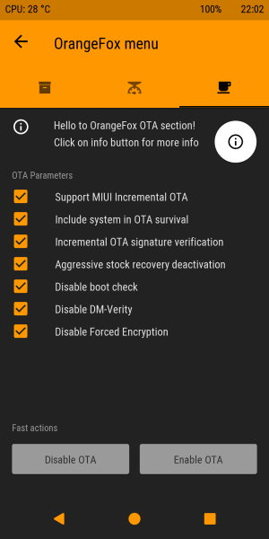 Orange Fox Recovery for Redmi Note 5 Pro/Global/China Codename Whyred 4