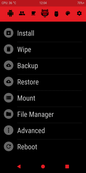 Red Wolf Recovery Project (RWRP) for Redmi Note 5 Pro/Global/China Codename Whyred 4