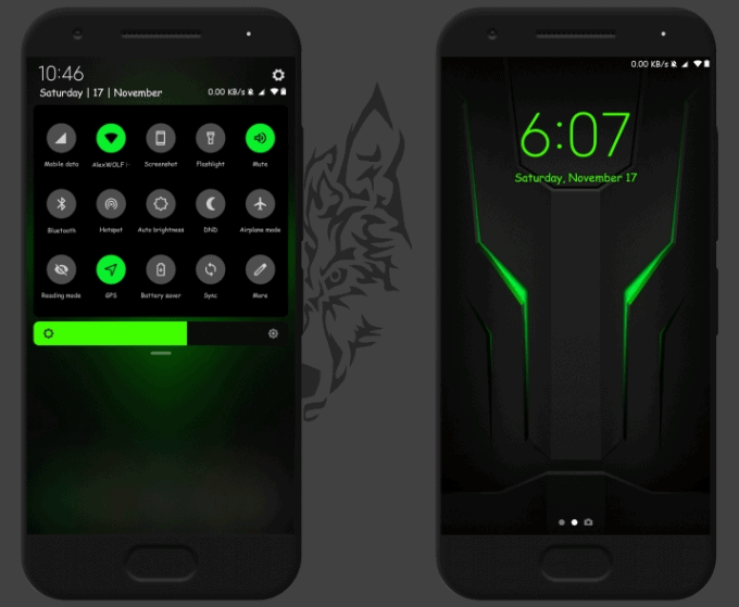 Dark Helo: Black Shark MIUI Theme 1