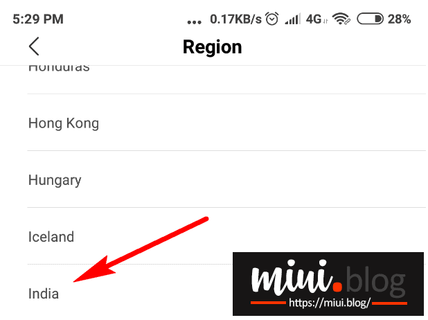 Switching MIUI Region on Any Xiaomi Devices 4