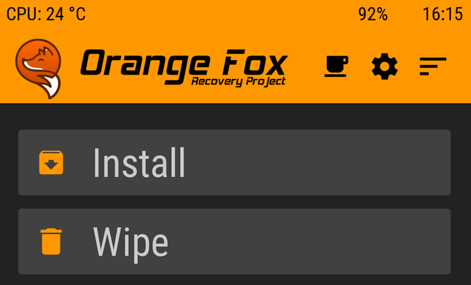 Better than TWRP, Orange Fox for Poco F1 (Codename Beryllium) 1