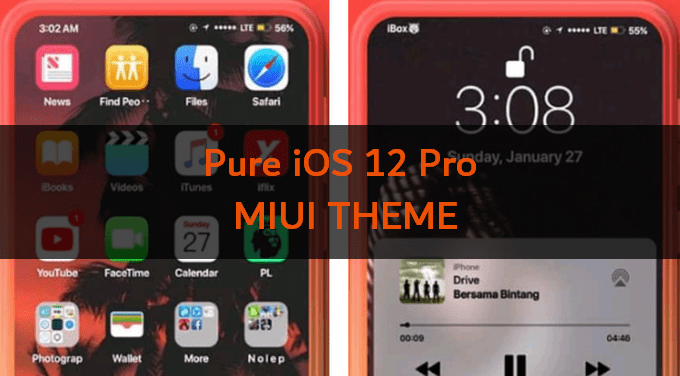 Pure iOS 12 Pro: Another MIUI Theme Alternative Resembling iPhone XS