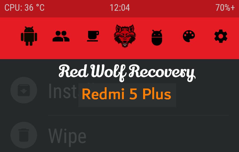 Flash Red Wolf Recovery and Root Redmi 5 Plus 10