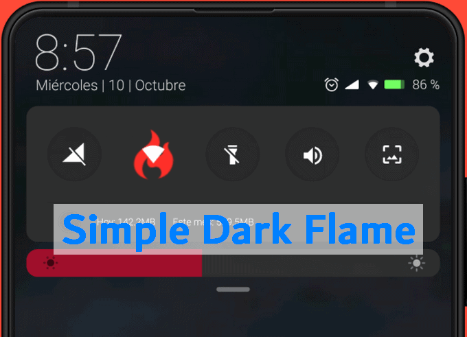 Simple Dark Flame MIUI 10 Theme: A Dark Reddish UI Design 1