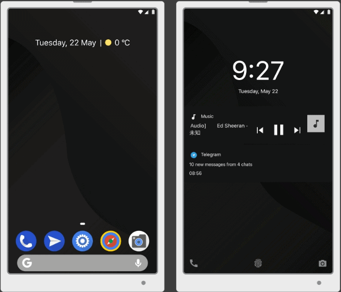 Android Pie Dark TT Theme Transforms MIUI 9 to Android 9.0 1