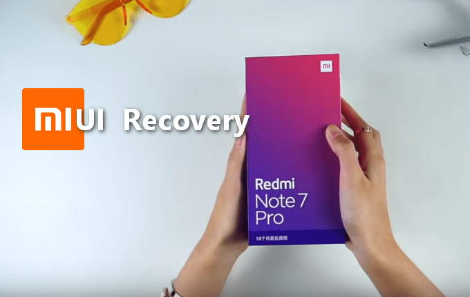 Stock MIUI Recovery for Redmi Note 7 Pro (Codename Violet) 1