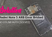 MIUI ROM Unbrick Tweak for Redmi Note 5 ARB Error 9