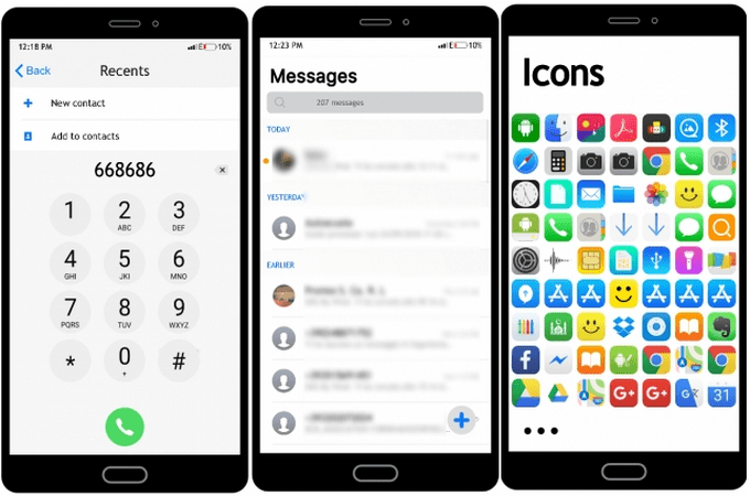 iOS SF Transforms MIUI 10 to iPhone iOS (with Dark Mode
