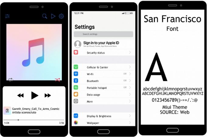 iOS SF Transforms MIUI 10 to iPhone iOS (with Dark Mode) 3