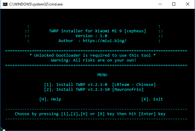 TWRP Recovery for Mi 9 (with Installer Toolkit) | MIUI Blog