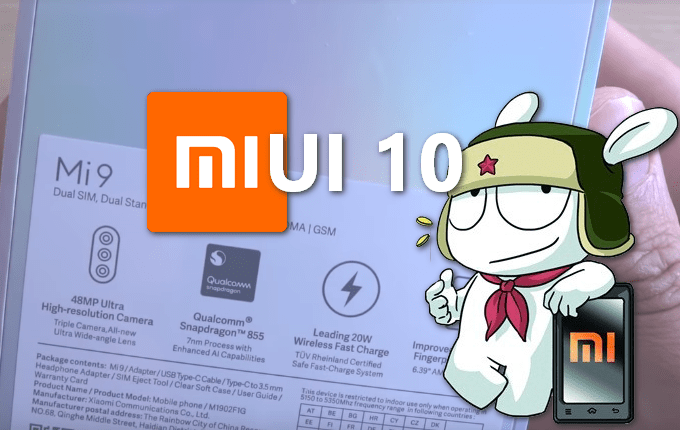 All MIUI 10 Recovery ROM Files for Mi 9 (Global, China, Europe