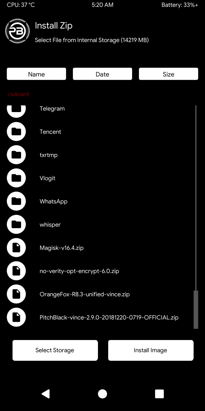 Pitch Black, Better Than TWRP for Redmi Note 7 Pro 3