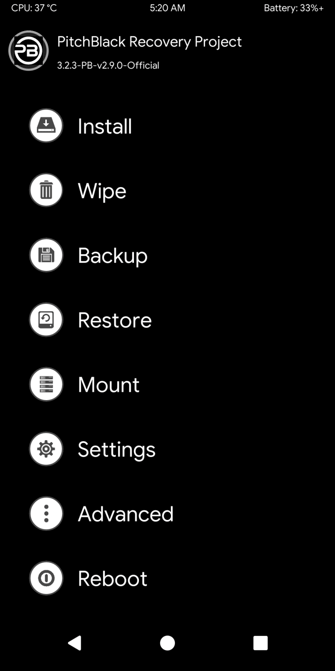 Pitch Black, Better Than TWRP for Redmi Note 7 Pro 2