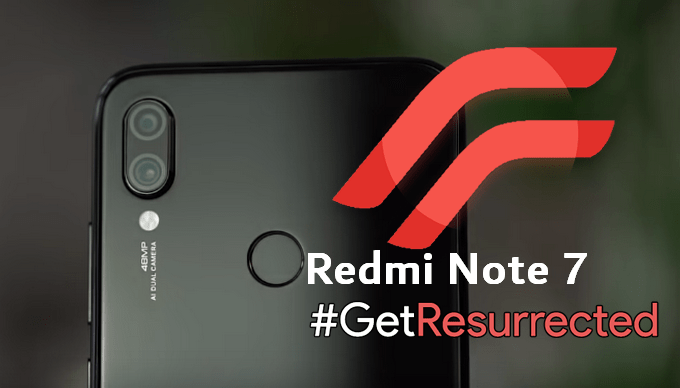 Resurrection Remix Android 9 0 for Redmi Note 7 (Lavender