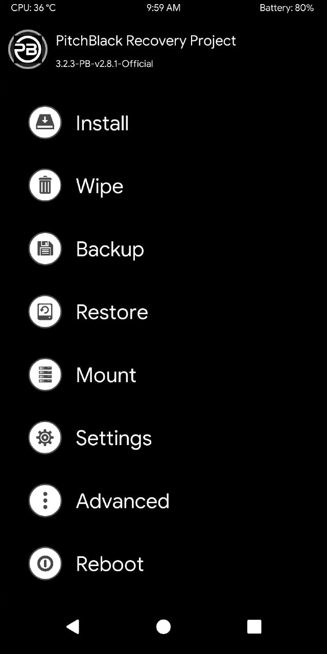 Pitch Black TWRP for Mi A2 (Mirror Links) 6