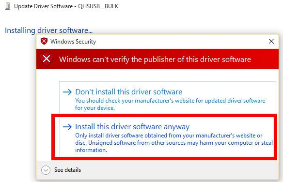 Qualcomm QDLoader HS-USB Drivers Setup File (32/64bit) 7