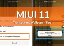 How to Enable MIUI 11 Transparent Wallpaper 2