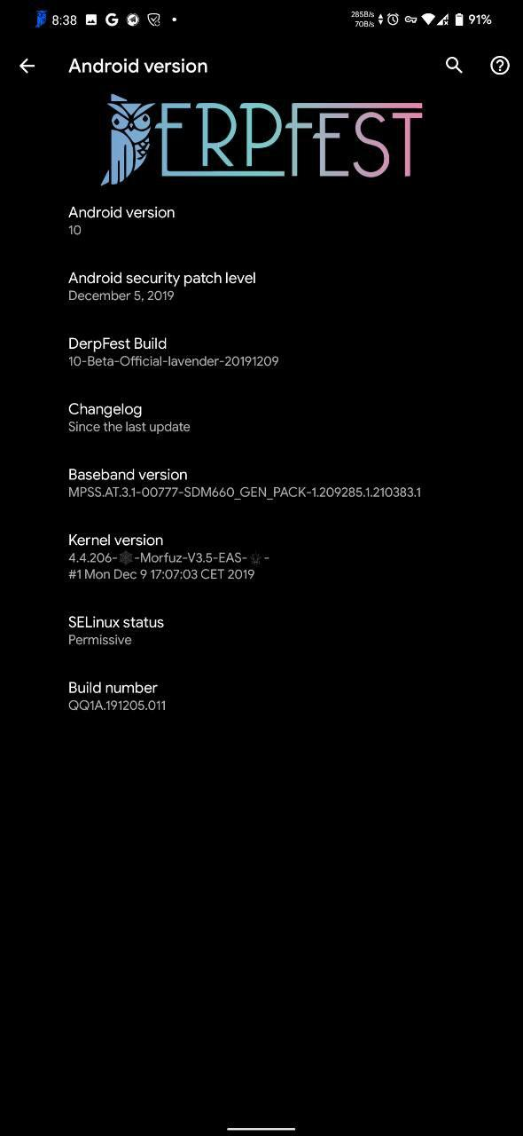 AOSiP DerpFest for Redmi Note 7: Download Link and Install Guide 2