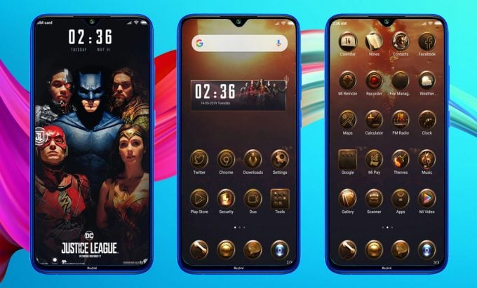 DC Justice League MIUI 11 Theme (Download .MTZ File) 1