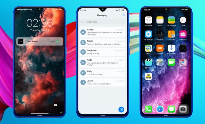 iOS 13.1S: The Best Theme to Transform MUI 11 to iPhone iOS (Download MTZ) 2