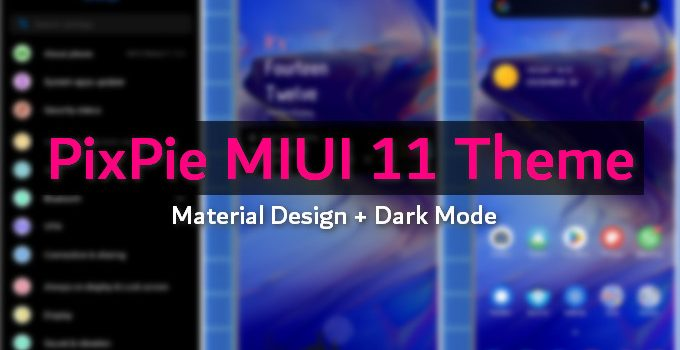 PixPie Brings Pixel Experience Dark Mode to MIUI 11 (MTZ Download) 4