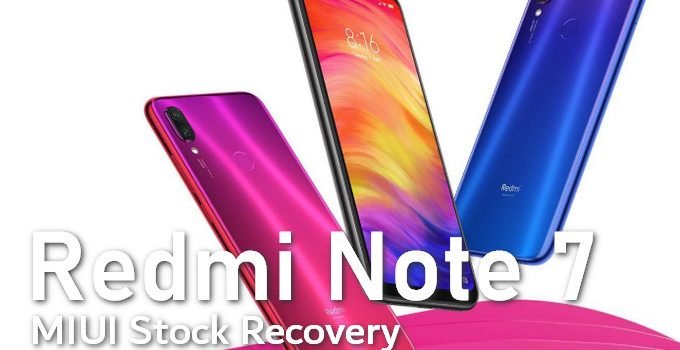 Stock MIUI Recovery for Redmi Note 7 (Lavender) 2
