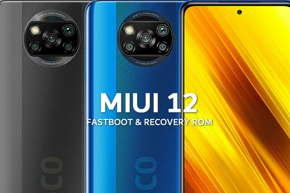 MIUI v12.0.1.0.RJGMIXM Global Stable ROM for Poco X3 NFC 1