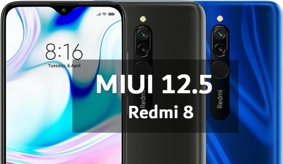 MIUI v12.5.1.0.QCNMIXM Global Stable ROM for Redmi 8 1