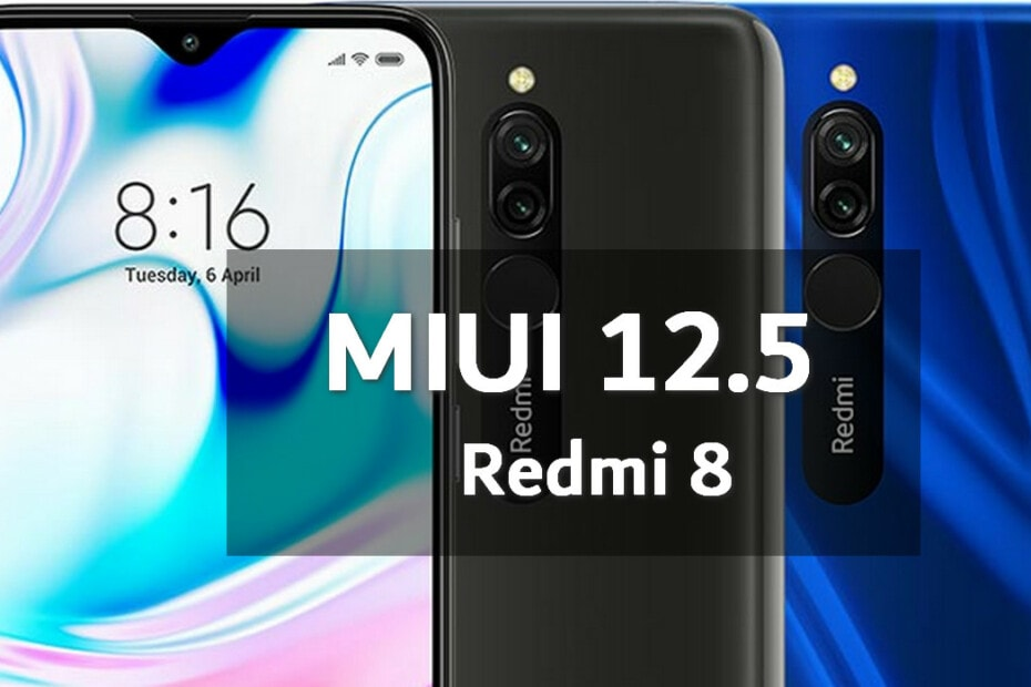 MIUI v12.5.1.0.QCNMIXM Global Stable ROM for Redmi 8 8